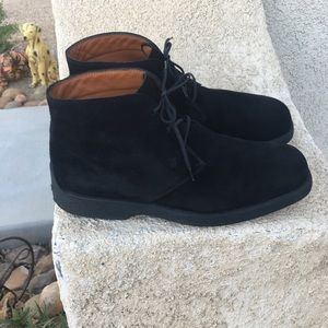 Tods black suede chukka lace up boots size 9.5